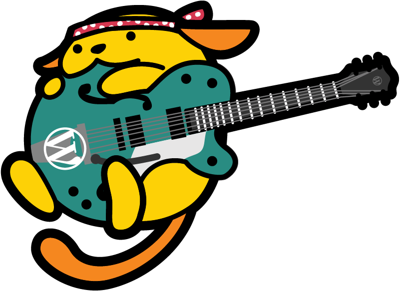 The Wapuu is the official mascot of WordCamps worldwide, and many camps create their own version. We drew this little guy with a country gentleman guitar and a Willie Nelson bandana for a Wapuu that is iconically Nashville.